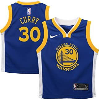 Nike Stephen Curry Golden State Warriors NBA Kids 4-7 Royal Blue Road Icon Edition Player Jersey