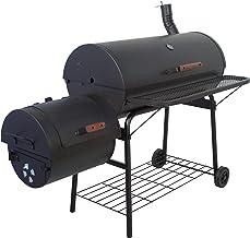 Nexos BBQ Grill Smoker Grillwagen Holzkohlegrill 2 Kammern Barbecue Transporträder..