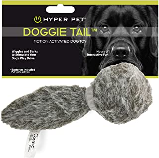 Hyper Pet Doggie Tail Interactive Plush Dog Toys(Wiggles, Vibrates, and Barks – Dog Toys for Boredom and Stimulating Play,...