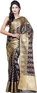 Women's Cotton Silk Blend Indian Ethnic Banarasi Saree with Unstitched Blousepiece(1119)