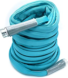 """Aqua Pro RV Drinking Water Hose 50 ft, Safe, BPA, Lead, Kink Free, Heavy-Duty, Lightweight, 50% Lighter Than Standard Hoses, ⅝"""" Diameter, Fits Most Sprayers, Nozzles and Sprinklers"""