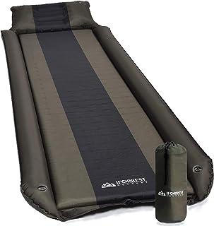 وسادة نوم من آيفوريست مع مسند ذراع ووسادة - حماية من الدوران - وسادة تخييم ذاتية النفخ - مرتبة هوائية إسفنجية مريحة للغاية...