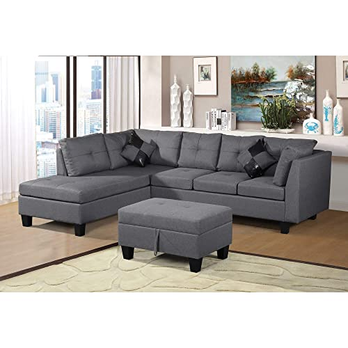 Admirable L Shaped Sectional Sofa Amazon Com Inzonedesignstudio Interior Chair Design Inzonedesignstudiocom