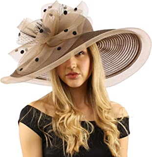 d4946d3d SK Hat shop Graceful Simamay Polka Dot Floral Kentucky Derby Floppy 7