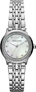 ساعة امبوريو ارماني كوارتز للنساء، شاشة انالوج وسوار ستانلس ستيل AR1803