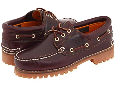 Timberland Traditional Handsewn 3-Eyelet Classic Lug (Burgundy Smooth Leather) Men