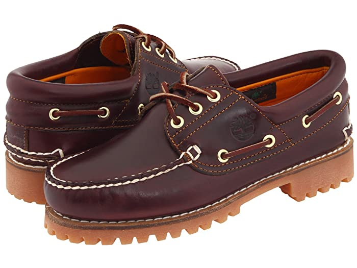 Timberland  Traditional Handsewn 3-Eyelet Classic Lug (Burgundy Smooth Leather) Mens  Shoes