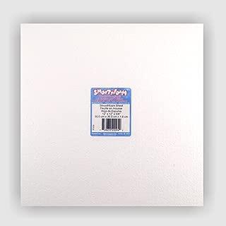 Bulk buy: 12 pack - 12 in x 12 in x 5/8 in Smooth Foam sheet - Plasteel Brand