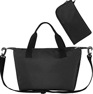 ORASANT Lunch Bag Lunch Tote, Waterproof and Leakproof Insulated Lunch Box for Women with Side Pockets and Detachable Shoulder Strap, Full Black