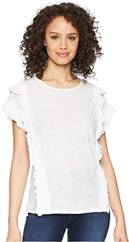 Ruffle Front/Cuff Drop Shoulder Top