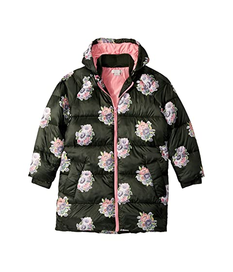 Stella McCartney Kids Flower Print Puffer Coat (Little Kids/Big Kids)
