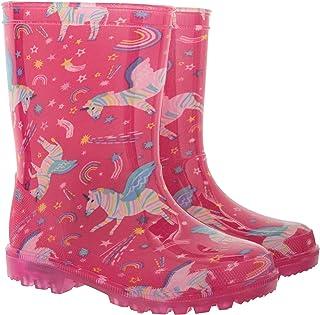 Mountain Warehouse Splash, Stivali di Gomma da Bambini con luci Lampeggianti - Resistenti, con Suole illuminanti, Facili d...