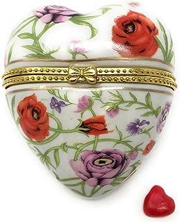 Best heart shaped porcelain trinket boxes Reviews