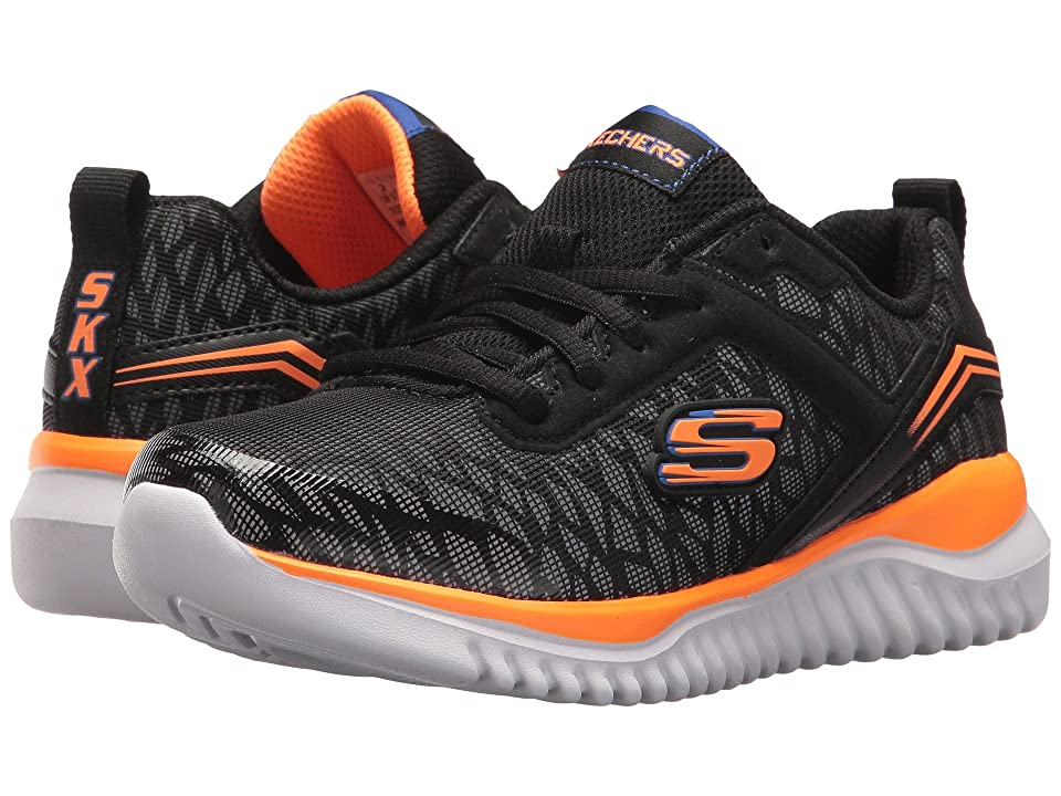 SKECHERS KIDS Turboshift (Little Kid/Big Kid) (Black/Orange 1) Boys Shoes