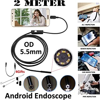CARPRIE 5.5mm/7mm Waterproof Mini Endoscope USB Wire Snake Tube Inspection Borescope Compatible with Android Smartphone PC