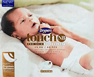 Drypers Touch Case, New Born, 3 packs x 80 Count