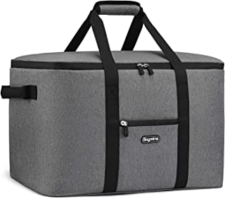 Bagmine 65 Cans Large Cooler Bag, Soft-Sided Collapsible Car Portable Cooler Bag Leak-Proof Thermal Cooler Tote Bag with Side Handles, Perfect Groceries Bag, 45 Liter, 18.2