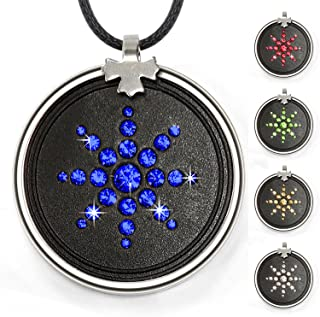 Anti Radiation Shield EMF Neutralizer Negative Ions Energy Pendant Necklace Orgone Pendant(Blue)
