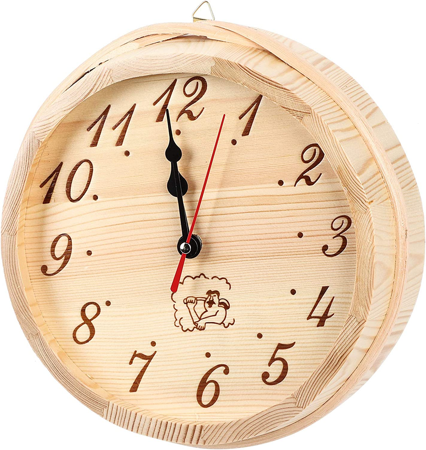 Free shipping New Qioniky online shopping Wall Clock Simple Style Powered Lightwei Battery Wooden