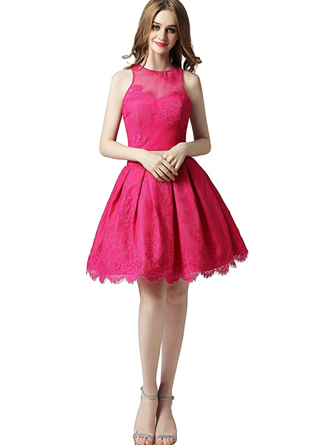 FeliciaDress Two Pieces Homecoming Dress Lace Prom Gown FD006