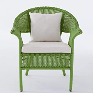 BrylaneHome Roma All-Weather Wicker Stacking Chair - Willow