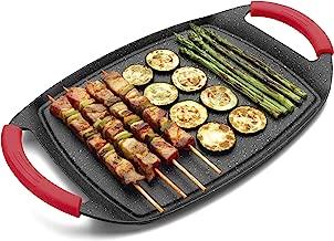 17-Inch Silver Paderno World Cuisine 41315-04 Dual Burner Stone Grill Set