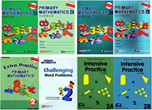 Singapore Math Primary Mathematics Complete Grade 2 Set (8 Books): 2 Textbooks, 2 Workbooks, 2 Intensive Practice, Extra Practice and Challenging Word