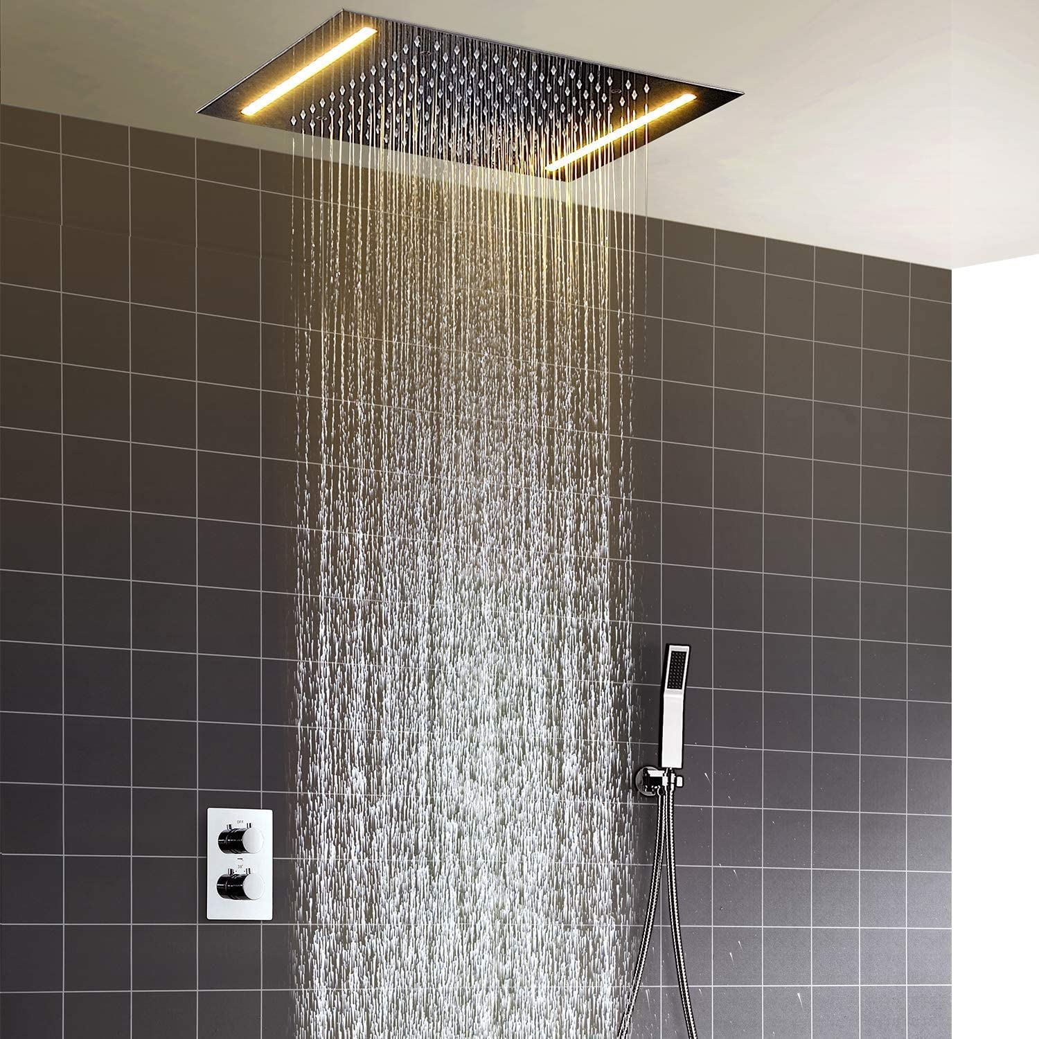 hm Shower System 20 Inch 360 500 x mm Clearance SALE! Limited time! Constant favorite LED Temperature