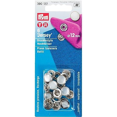 fleur d/'acajou bleue Soleebee Lot de 12 boutons pression en verre et aluminium 18 mm pour trou de bouton de 5,5 mm