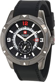 Swiss Military - 06-4R5-04-007R - Reloj analógico de Cuarzo para Hombre con Correa de Caucho, Color Negro
