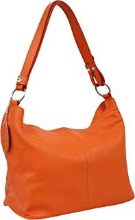 AMBRA Moda Damen Leder Handtasche Schultertasche Umhängetasche Hobo bag GL005