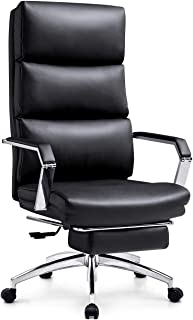 Sponsored Ad - Ticova Executive Office Chair - High Back Rocking PU Leather Office Chair with Iron Armrest and Footrest - ...