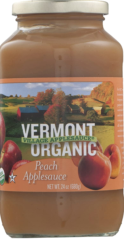 Vermont Village Cannery, Applesauce Peach Organic, 24 Ounce