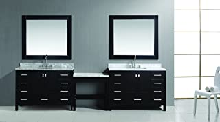 single sink bathroom vanity with makeup table