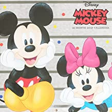 2018 Licensed Characters 12- Month Wall Calendars, 10x10 in. (Disney Mickey Mouse)