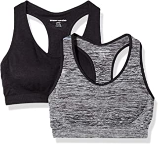 d80241beb9 Amazon Essentials Women s 2-Pack Light Support Seamless Sports Bras