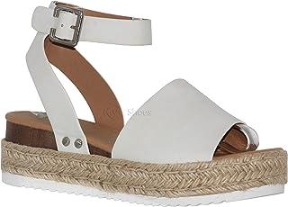e53928ce604c4 Amazon.com: 5.5 - White / Platforms & Wedges / Sandals: Clothing ...