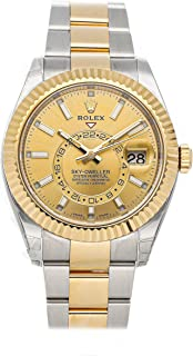 Sky-Dweller Mechanical (Automatic) Champagne Dial Mens Watch 326933 (Certified Pre-Owned)