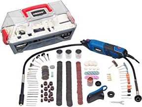 HERZO Mini taladro,Miniherramienta multiuso, Mini Die Grinder Kit, Kit de accesorios de 190 piezas, 230V 170W