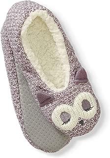 NOBO Soft Knit Animal Slipper Socks (M/L, Owl)