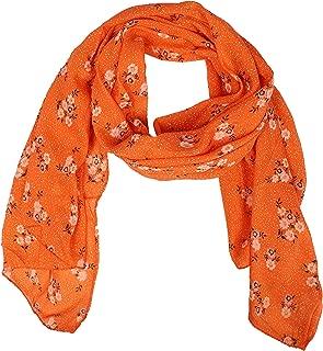 Zwillingsherz Seiden-Tuch Damen mit Blumen Muster - Made in Italy - Eleganter Sommer-schal für Frauen - Hochwertiges Seidentuch/Seidenschal - Halstuch und Chiffon-Stola Dezent Stilvoll