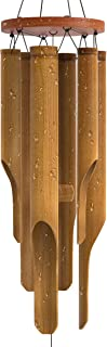 Nalulu Classic Wind Chime - Bamboo Wooden Wood Outdoor Medium & Relaxation Ready