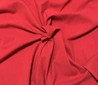 Scarlet Red - Hand Dyed Raw Silk Noil Fabric