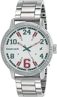 Fastrack Varsity Analog Silver Dial Men's Watch - 3178SM02