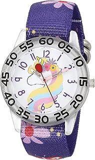 Red Balloon Girls Analog Quartz Watch with Nylon Strap, Purple, 16 (Model: WRB000137)
