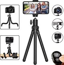 Phone Tripod, Flexible Cell Phone Tripod Adjustable Camera Stand Holder with Wireless..