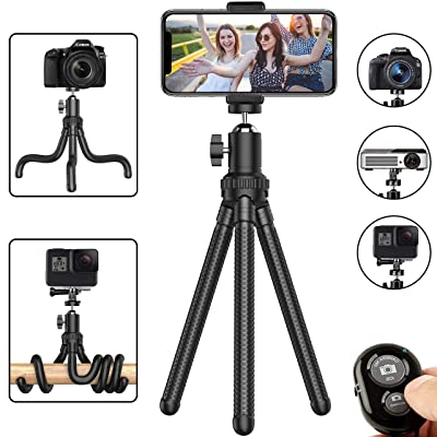 Phone Tripod, Flexible Cell Phone Tripod Adjust...