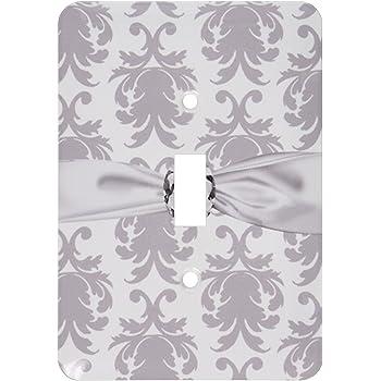 3drose Lsp 118974 2 Grey White Baroque Decorative Elegant Damask Pattern Faux Diamond Ribbon Double Toggle Switch Switch Plates Amazon Com