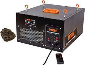 Wen 3410 Remote-controlled Air Filtration System, 3-speed, Filters Remote (Complete Set) w/ Bonus: Premium Microfiber Cleaner Bundle