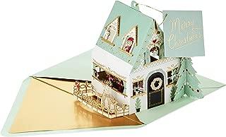 Hallmark Signature Pop Up Christmas Card (3D Santa's House Ornament)